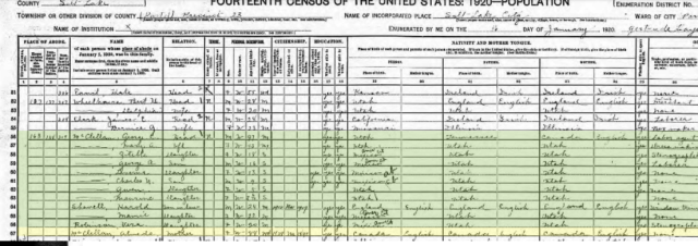 1920 census after back from mexico
